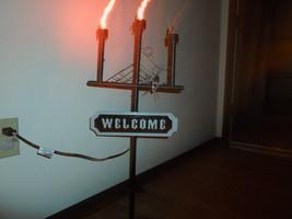 "Halloween 30"" ""Welcome"" Flickering Candelabra Light Yard Decoration - €25,82 EUR"