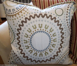 Outstanding Suzani Accent Pillow With Beacon Hill Stripe Textile For Reverse - $145.00