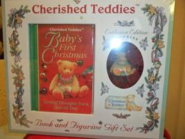 Cherished Teddies Baby Boy First Christmas Gift Set - $14.99