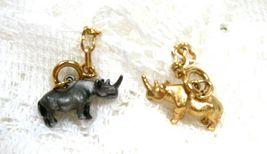 Joan Rivers Noah's Ark Rhinos Rhinoceros Charm Extender Chain Set Pair R... - $50.00
