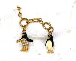 Joan Rivers Noah's Ark Penguins Charm Extender Set Pair Couple w Chain R... - $60.00