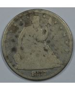 1877 Seated Liberty circulated silver half  - $34.00