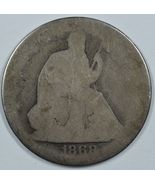 1868 Seated Liberty circulated silver half dollar - filler coin - $24.50