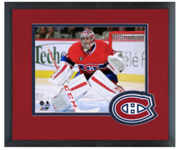 Carey Price 2014-15 Montreal Canadiens-11 x 14 Team Logo Matted/Framed Photo - $43.95