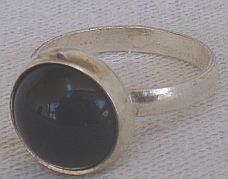 Silver onyx ring c
