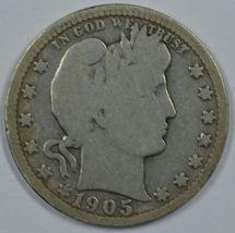 1905 O Barber circulated silver quarter - $28.50