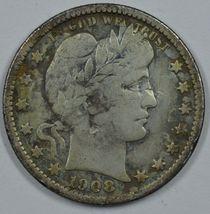 1908 O Barber circulated silver quarter - $36.50