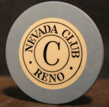 """1950's Roulette Chip From: """"The Nevada Club""""-  (sku#3091) - $9.99"""