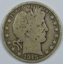 1915 P Barber circulated silver half dollar G details - $120.00