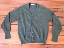 Vintage 90s Grunge Fuzzy Lambs Wool Button Up Cardigan Grandpa Sweater M... - $87.50