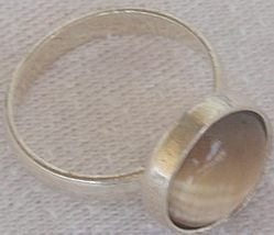 Brown cat eye silver ring c 1 thumb200