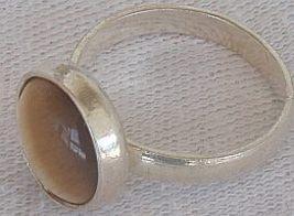 Brown cat eye silver ring c 3 thumb200