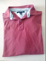 Tommy Hilfiger Solid Red Short Sleeve Cotton Polo Shirt Mens XL - $17.05