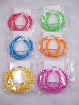 12 Pair Retro Look Acrylic Hoop Earrings NWT #J... - $5.44