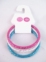 Brand New Set of 3 Glitter Bangle Bracelets NWT #B1257 - $4.29