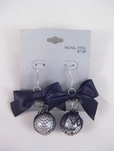 12 New Wholesale Pairs of Black Bow Earrings Fr... - $7.69
