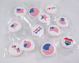 12 Brand New Assorted American USA Buttons Pins #US003 - ₨413.24 INR