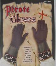 New Pirate Black Skull Crossbones Adult Costume Gloves - $11.29