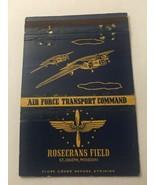 Vintage Matchbook Cover Matchcover US Air Force Rosecrans Field St Josep... - $5.23