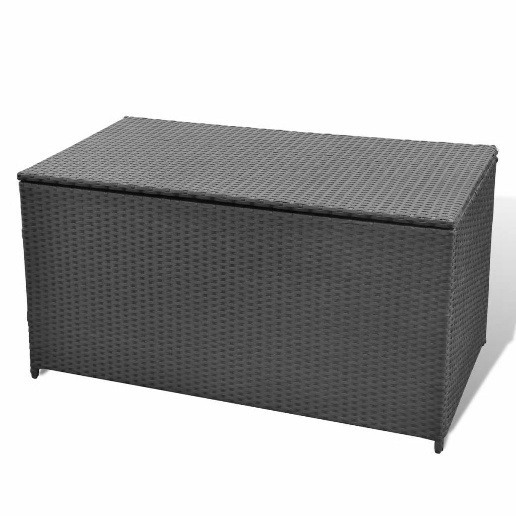 vidaXL Garden Storage Chest Poly Rattan Bench Cabinet Box Organizer 2 Colors image 3
