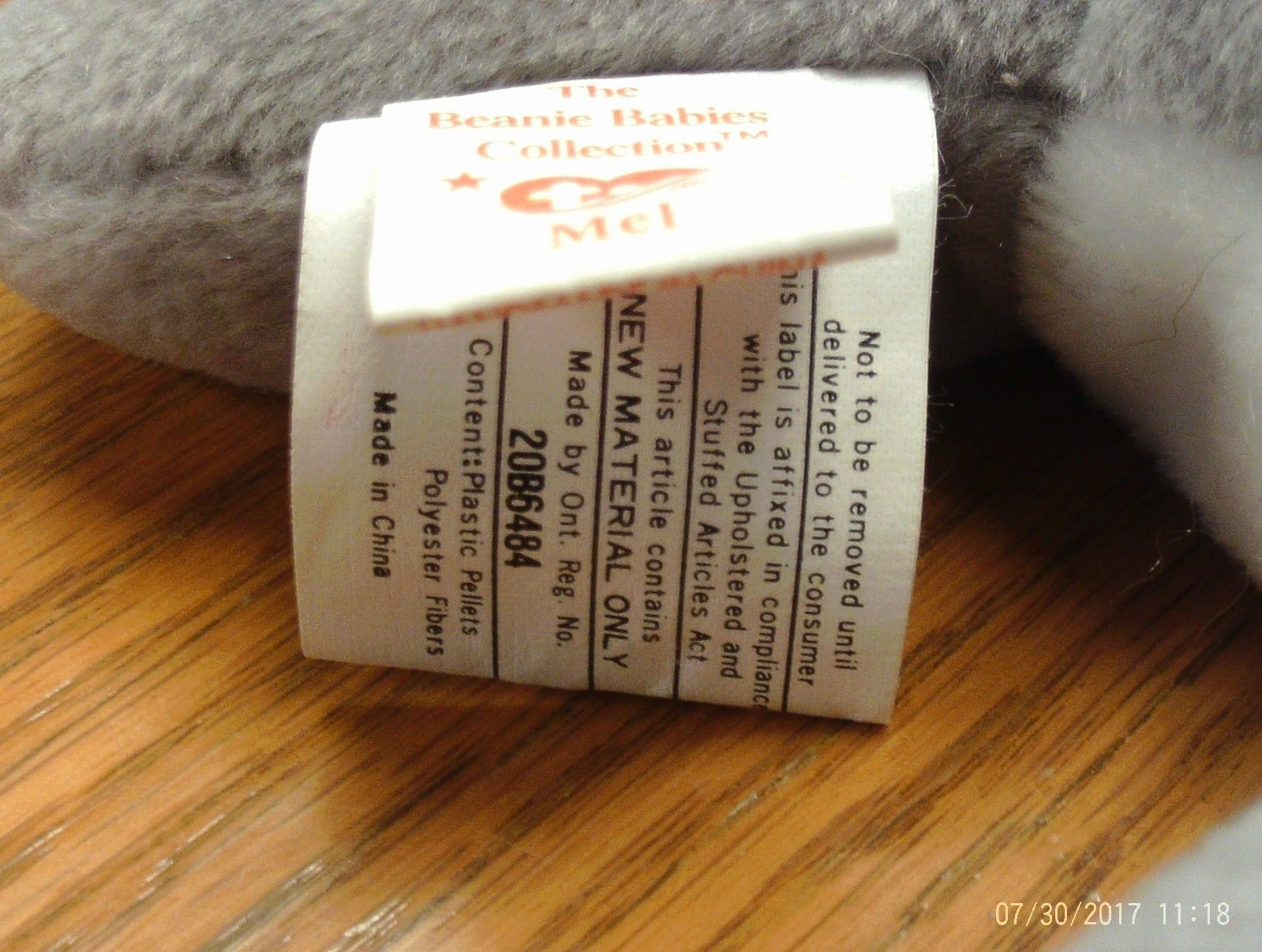 1st Edition Ty Beanie Babies Rare Mel the Koala Bear, double tush tag! image 5