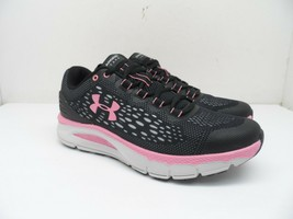 Under Armour Women's Charged Intake 4 Running Shoes Black/Pink Size 7.5M - $90.24