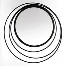 "Circles in Circles 29"" Metal Wall Mirror Three Ring Black Finish Iron - $79.95"