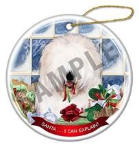 Old English Sheepdog Dog Santa I Can Explain Porcelain Christmas Ornament - $16.10