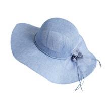 KLV Summer France Elegant Women Wide Brim Bow Outdoor Beach Caps Floppy ... - $9.26