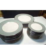39 PLATES OF FLINTRIDGE CHINA GREEN~~CALIFORNIA POTTERY~~ - $129.99