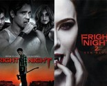 FRIGHT NIGHT 1-2: New Blood-Colin Farrell-Jaime Murray-Horror Remake- NEW 2 DVD