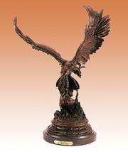 "26""H Falcon Lost Wax Bronze Sculpture by Jules Moigniez Large Size - $1,999.95"
