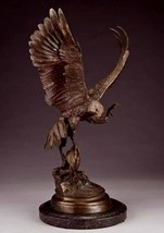 """15""""H Falcon Lost Wax Bronze Sculpture by Jules Moigniez Small Size - $999.95"""