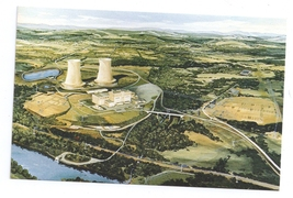 Limerick PA Nuclear Power Plant Postcard Atomic Energy Artist Conception - $7.99
