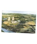 Limerick PA Nuclear Power Plant Postcard Atomic Energy Artist Conception - $7.99
