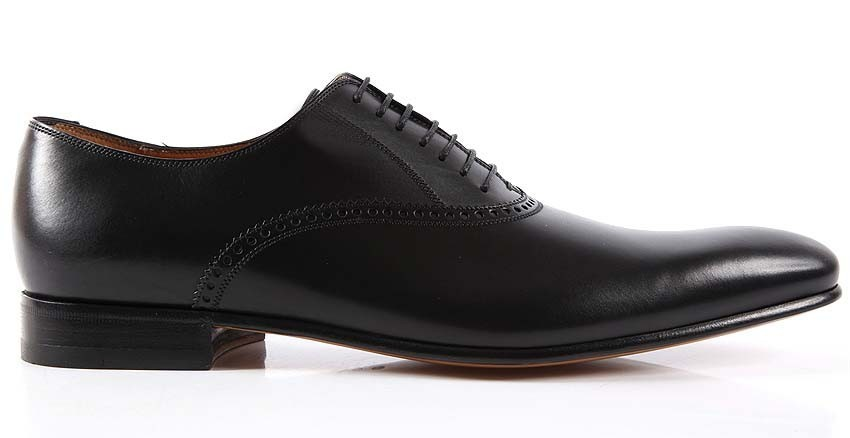 Handmade mens black Oxford leather shoes, Classic Mens black dress shoes,