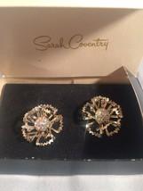 Vintage Sarah Coventry Allusion Rhinestone Clip earrings NIB - $21.22