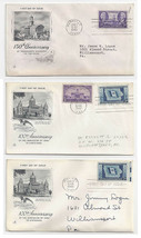 FDC Lot of 3 First Day Covers Sc 941 Tennessese 942 Art Craft Cachet Io... - $4.99