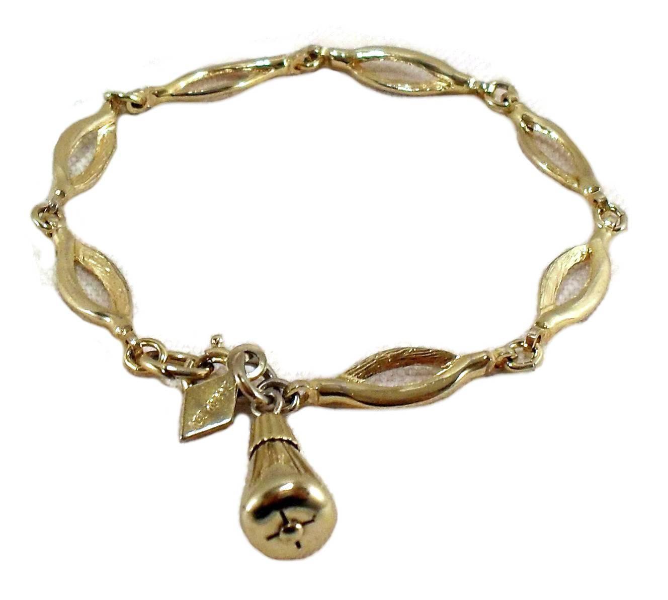 "Sarah Conventry Vintage Figaro Type Chain Bracelet  Gold-tone 7"""