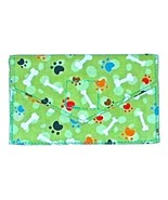Handmade Credit Business Card Case for Dog Lovers Green Mini Paws Bones ... - $6.00