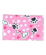 Handmade Credit Business Card Case for Dog Lovers Pink Paws Bones Cotton - $6.00