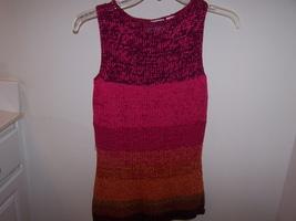 Liz Claiborne Multi-Color Striped Knit Women's Petite Tank/Tunic Cotton ... - $10.99