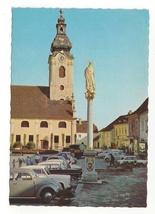 Austria Hartberg Church Mary Column Styria Vintage Postcard 4X6 - $4.99