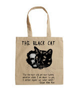 EDGAR ALLAN POE THE BLACK CAT - NEW AMAZING GRAPHIC HAND BAG/TOTE BAG - £16.92 GBP