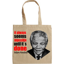 NELSON MANDELA QUOTE - NEW AMAZING GRAPHIC HAND BAG/TOTE BAG - $17.19