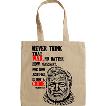 HERNEST HEMINGWAY QUOTE - NEW AMAZING GRAPHIC HAND BAG/TOTE BAG - $23.60