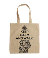 KEEP CALM AND WALK THE ROTTWEILER - NEW AMAZING GRAPHIC HAND BAG/TOTE BAG - $17.19