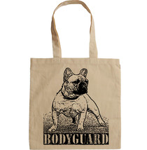FRENCH BULLDOG BODYGUARD -  NEW AMAZING GRAPHIC HAND BAG/TOTE BAG - $17.19