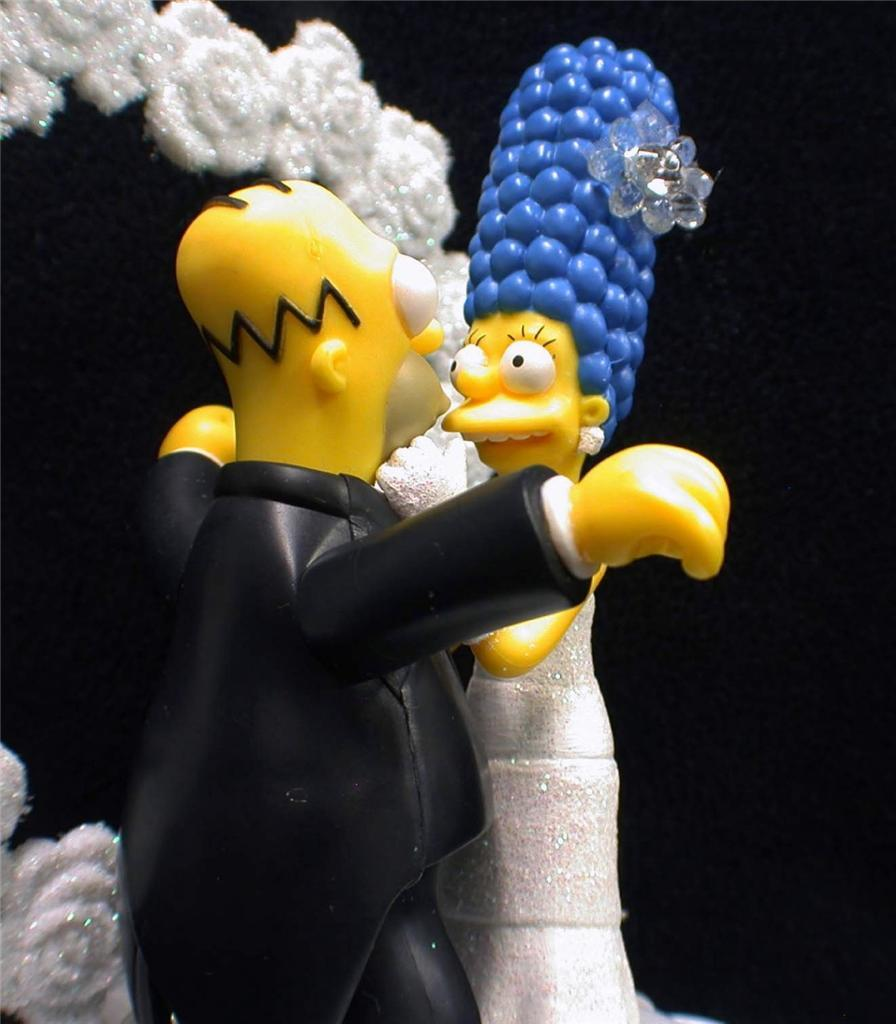 homer and marge simpson wedding cake topper o homer marge simpsons wedding cake topper only wedding 15306