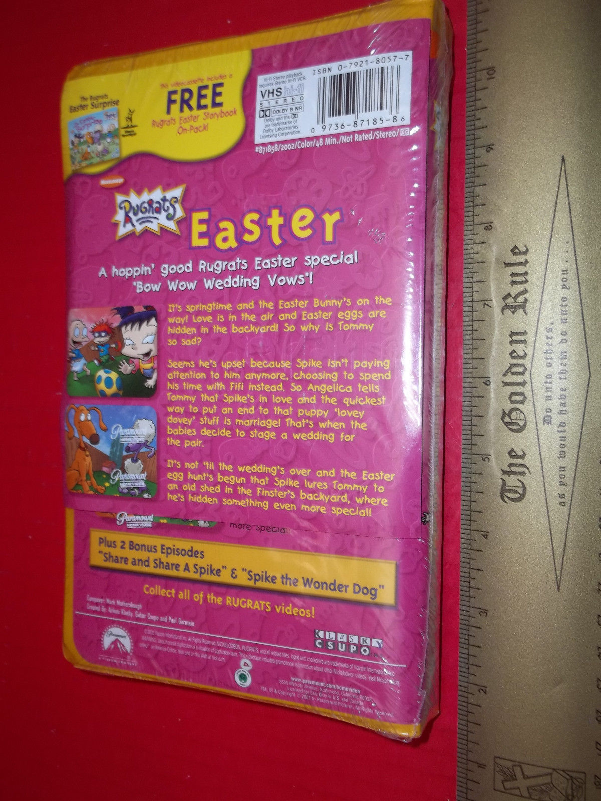 Rugrats Activity Kit Book Nickelodeon Easter Surprise Holiday VHS Video Tape Set